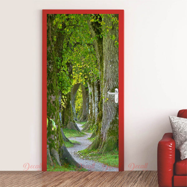 Tree Path Trail Door Mural - Door-Murals - Decall.ca