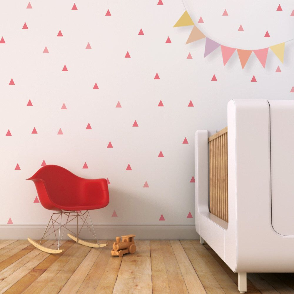 Triangle Wall Decals - Little Peaks Wall Pattern Vinyl Stickers - Wall-Decals - Decall.ca