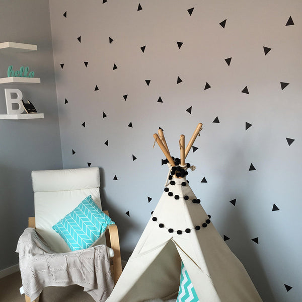 Triangles Vinyl Stickers - Triangle Wall Pattern Vinyl Wall Decals - Wall-Decals - Decall.ca