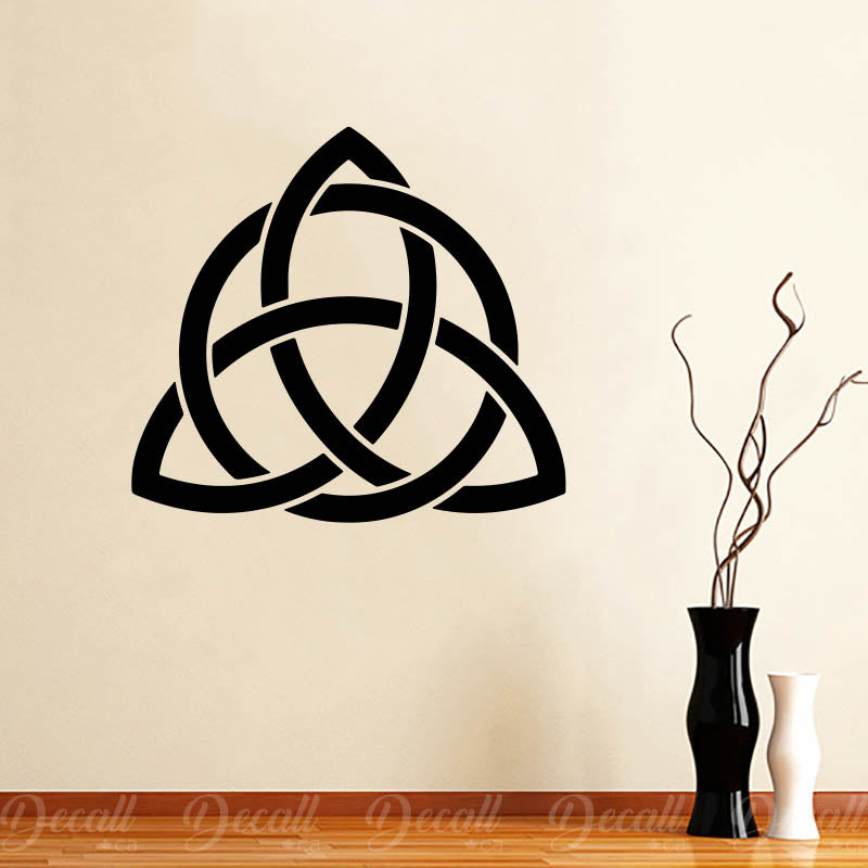 Triquetra Knot Circle Shape Trinity Triquetra Symbol Celtic Knot Wall Decal