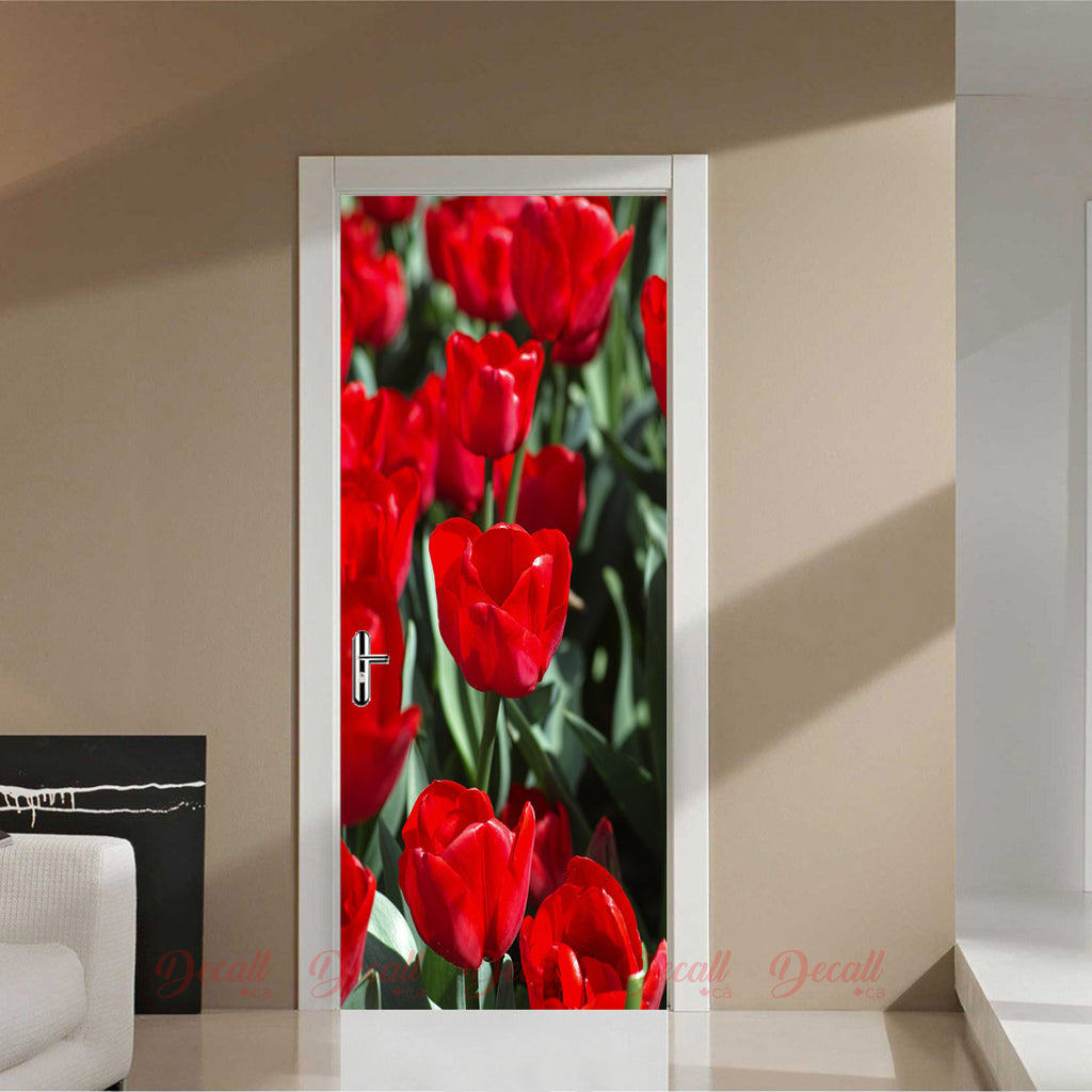 Tulips Flower Door Mural - Door-Murals - Decall.ca