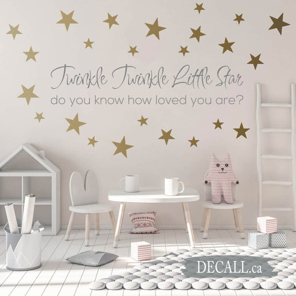 Twinkle Twinkle Little Star Do You Know How Loved You Are - Nursery Wall Decal