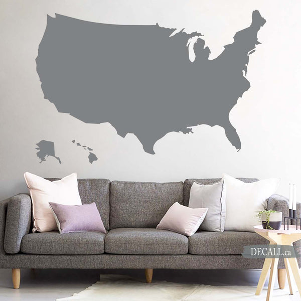 United States Map - Map of USA - US Map Wall Decal