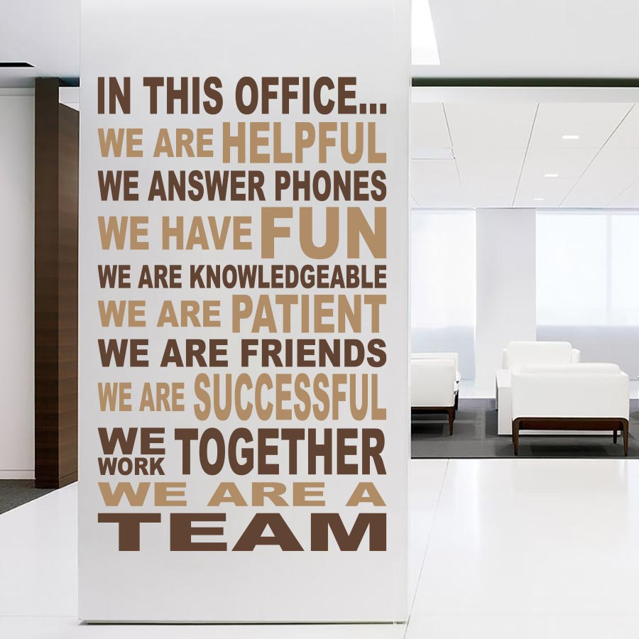 WE ARE A TEAM - Wall Decal - Wall-Decals - Decall.ca