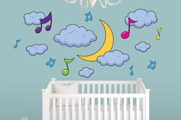 Musical Moon Nursery Wall Sticker