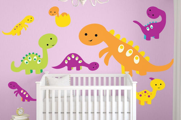 Cute Warm Baby Dino Nursery Wall Sticker