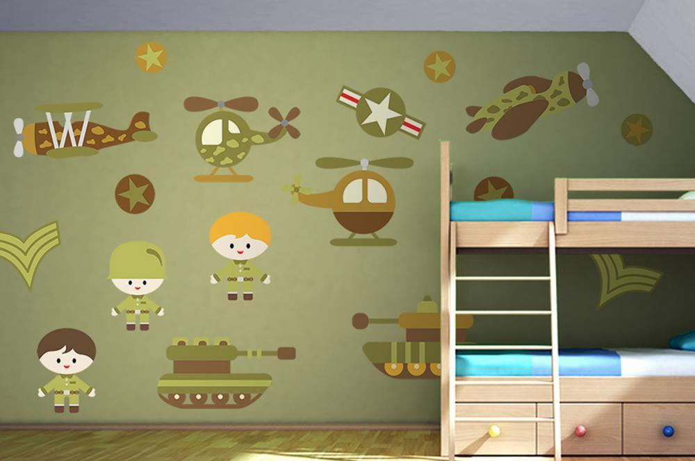 Baby Military Camo Nursery Wall Sticker