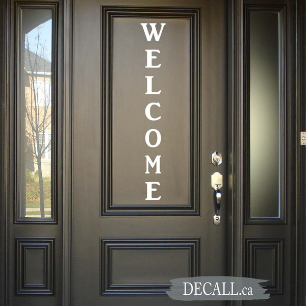 Welcome Door Decal - Welcome Vinyl Decal - Welcome Wall Decal - D122