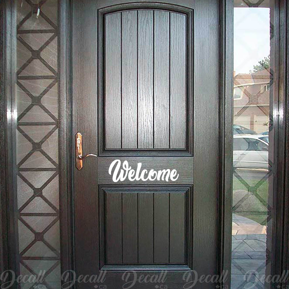 Welcome Door Decal - Welcome Vinyl Decal - Welcome Wall Decal - Wall-Decals - Decall.ca