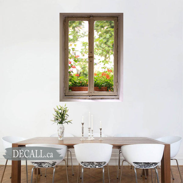 Window to Garden Window Scene Wall Mural DWM1038