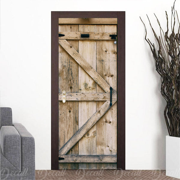 Wooden Barn Door Mural - Door-Murals - Decall.ca