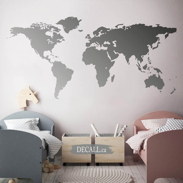 World Map Wall Decal A160
