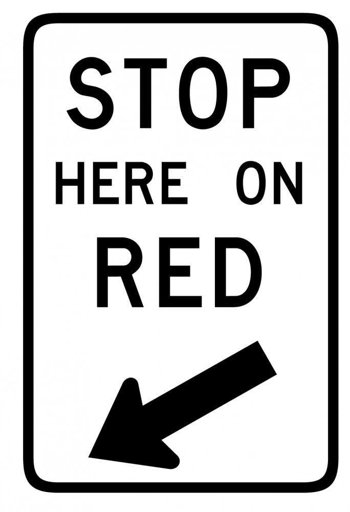 Stop Here Red Sign Transportation Wall Mural Sticker