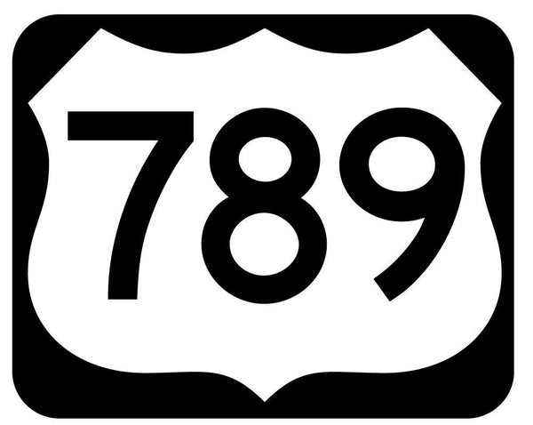 Us Numbered Route Sign Transportation Wall Mural Sticker