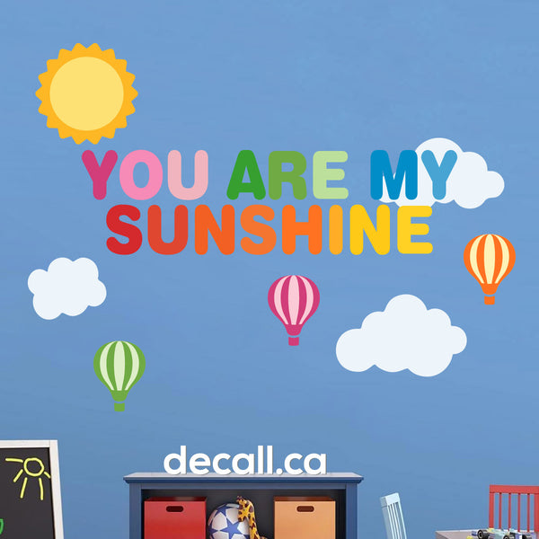 You Are My Sunshine Nursery Wall Stickers DWS1212