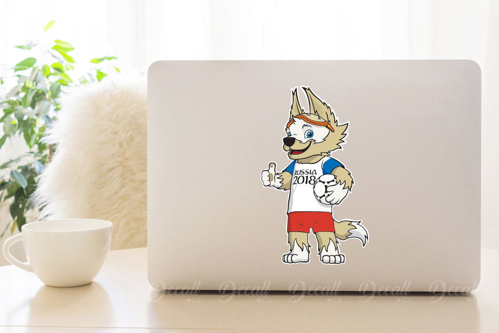 Zabivaka 2018 FIFA World Cup Russia Official Mascot Sticker DS1003 - Stickers - Decall.ca