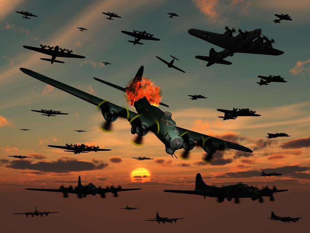 B-17 Flying Fortress Military Wall Mural