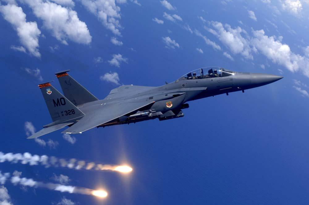 Air Force F-15e Strike Military Wall Mural