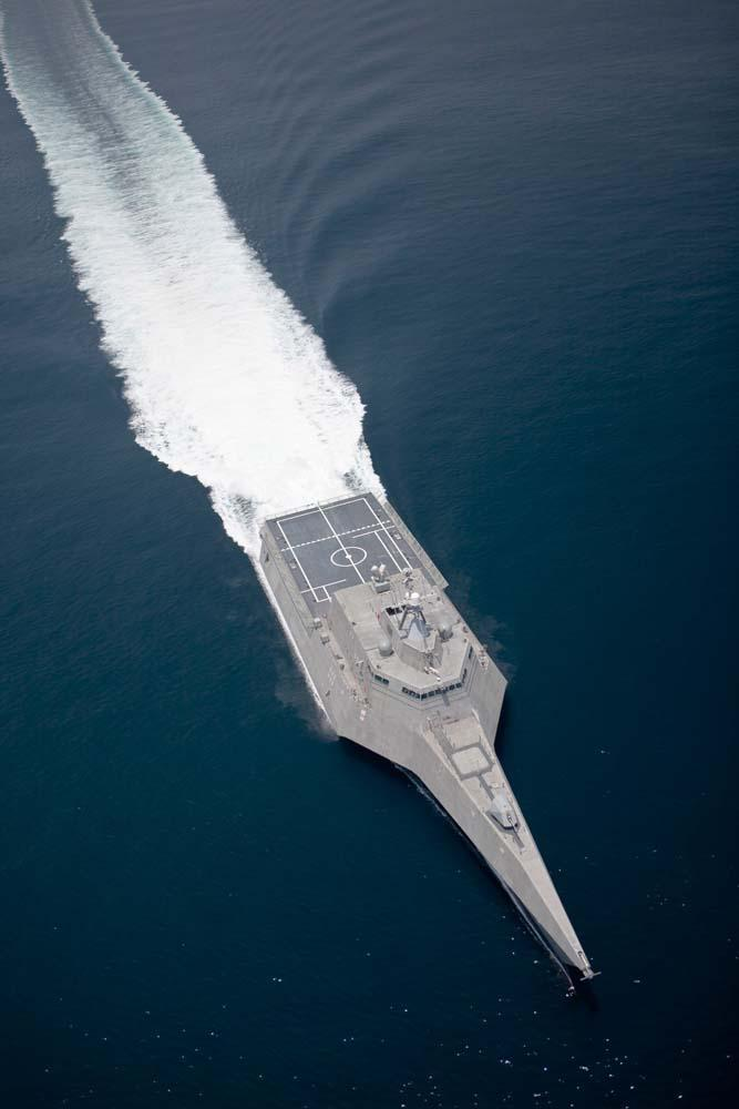 Aerial Littoral Combat Ship Military Wall Mural