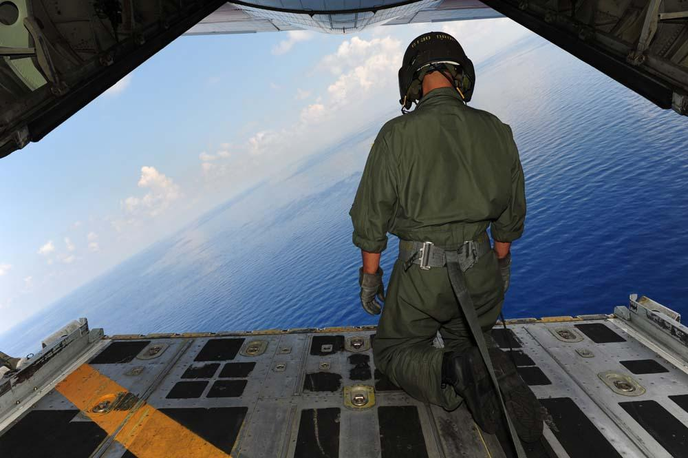 Airman Observes Waters Gulf Military Wall Mural