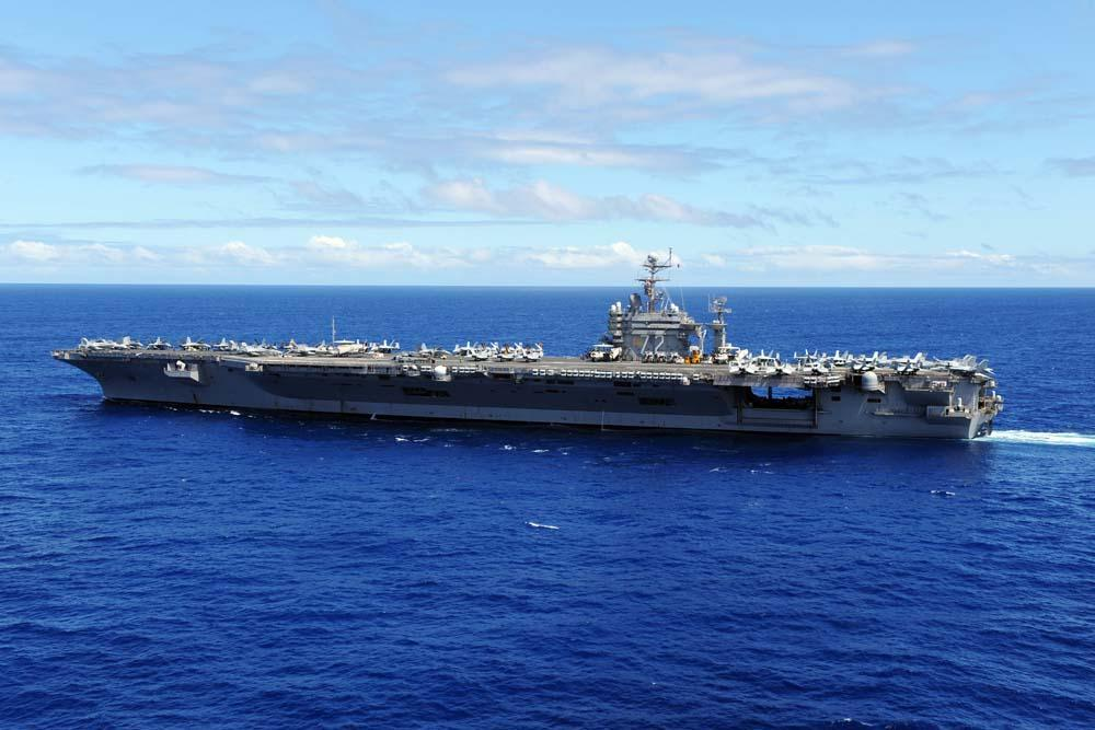 Aircraft Carrier Uss Abraham Military Wall Mural