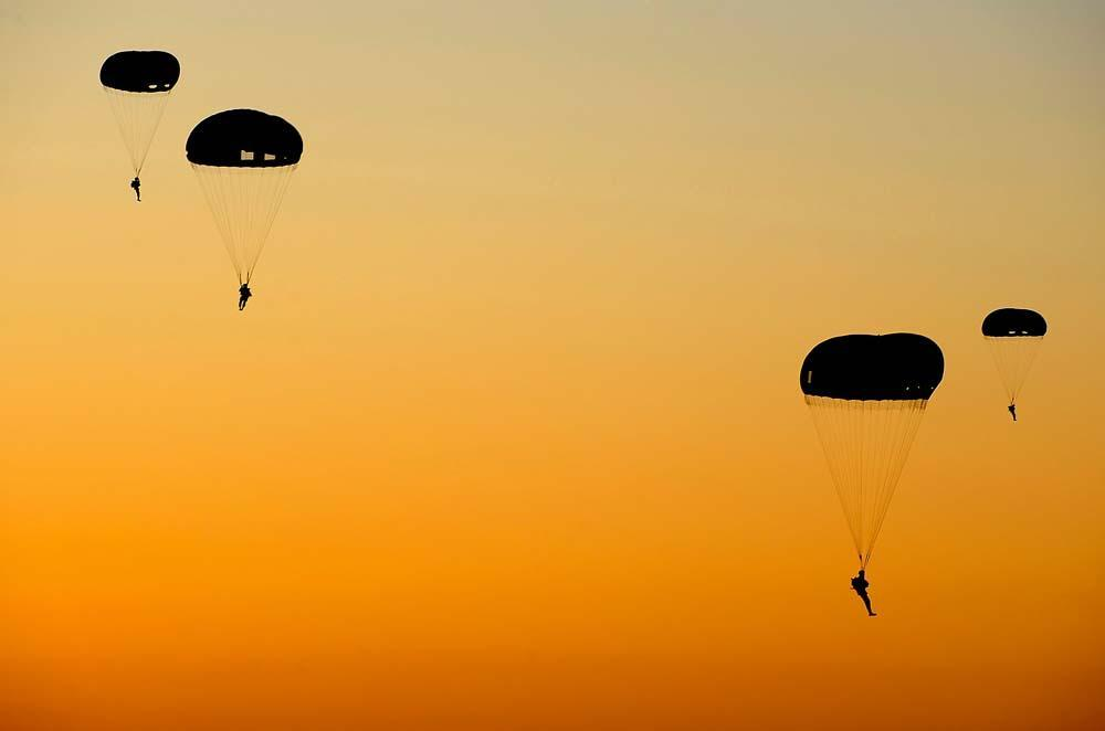 Us Army Rangers Parachute Transportation Wall Mural