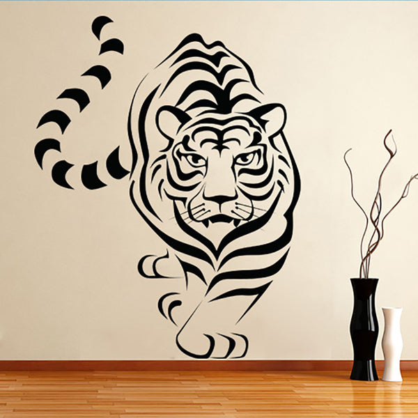 White Tiger Walking - Wall Decal Sticker Graphic - Wall-Decals - Decall.ca