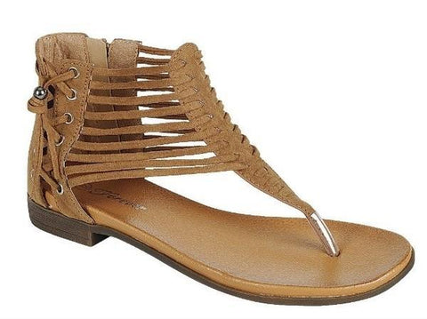 Quite T-Strap Thong Sandal, Tan