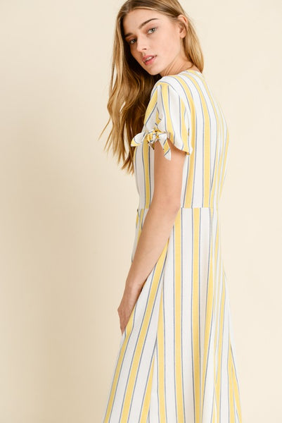 Striped Button Front Dress, Constance