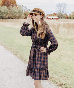 Tenille, Plaid Print Midi Dress