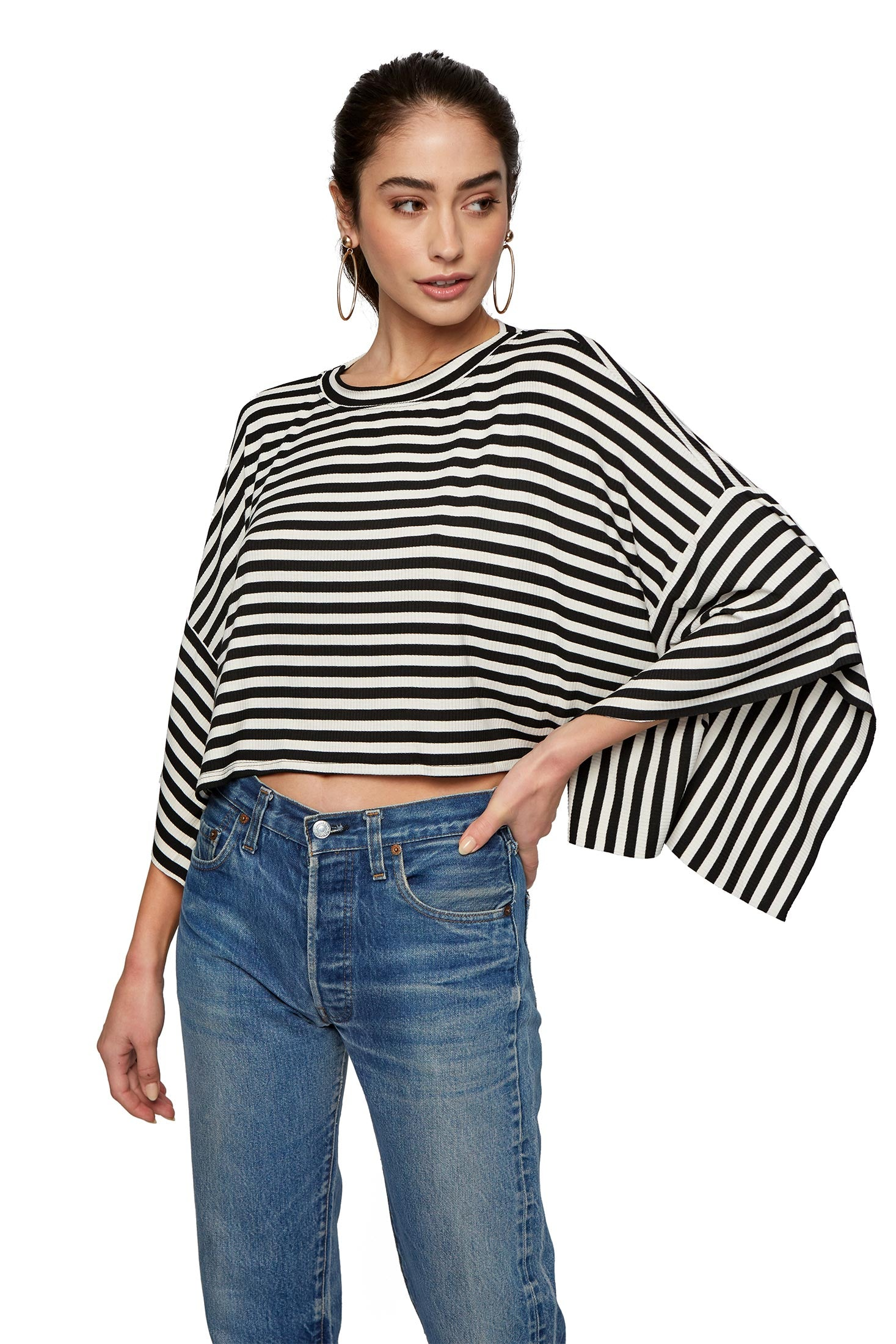 Harvey Top - Capri Stripe