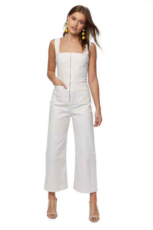 Natalia Jumpsuit - White Denim