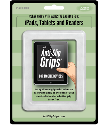 Joslin Anti Slip Grips for Mobile Devices | Rectangle for Readers, iPads and Tablets