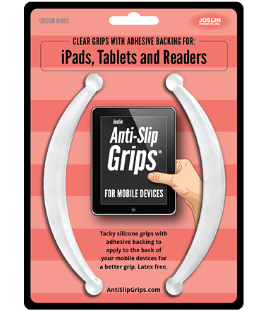 Joslin Anti Slip Grips for Mobile Devices | Wings for iPad, Tablets, and Larger Devices