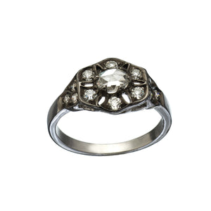 Polly Rose and Old Mine Cut Diamond Ring