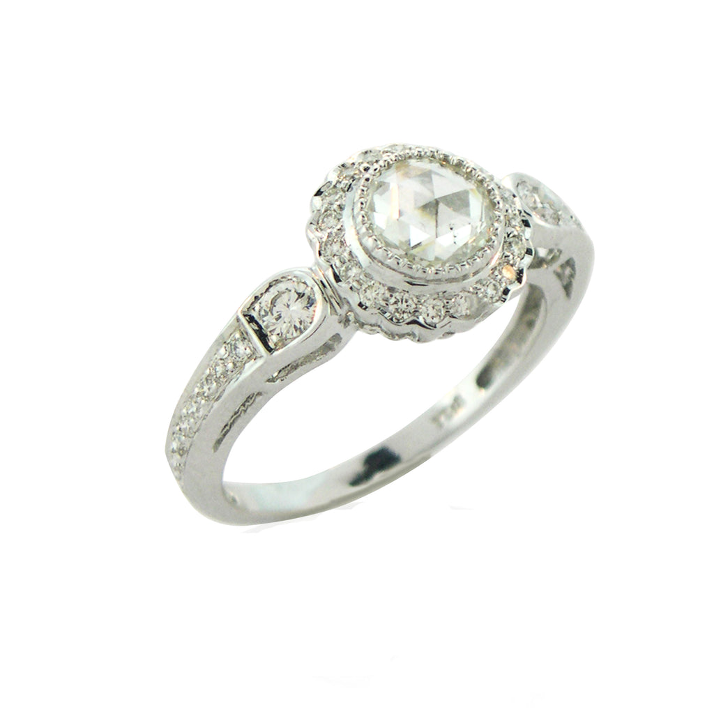 True Romance Rose Cut Diamond Ring