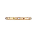 Dunes Narrow Multi-Color Diamond Brushed Band