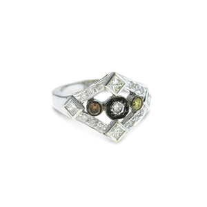 Art Deco Multi-Color Diamond Ring