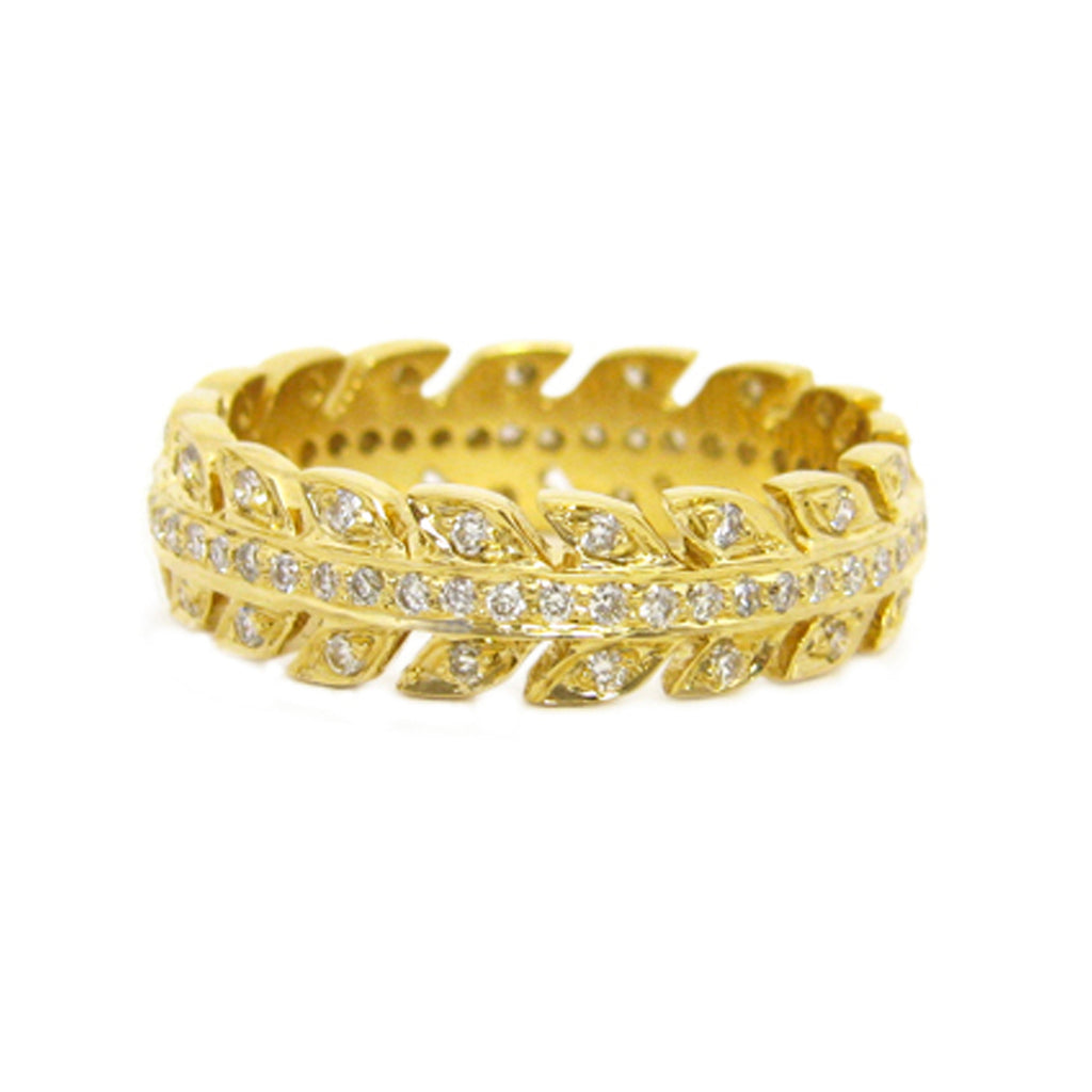Wreath Diamond Band