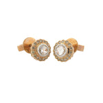 True Romance Rose Cut and Champagne Diamond Stud Earrings