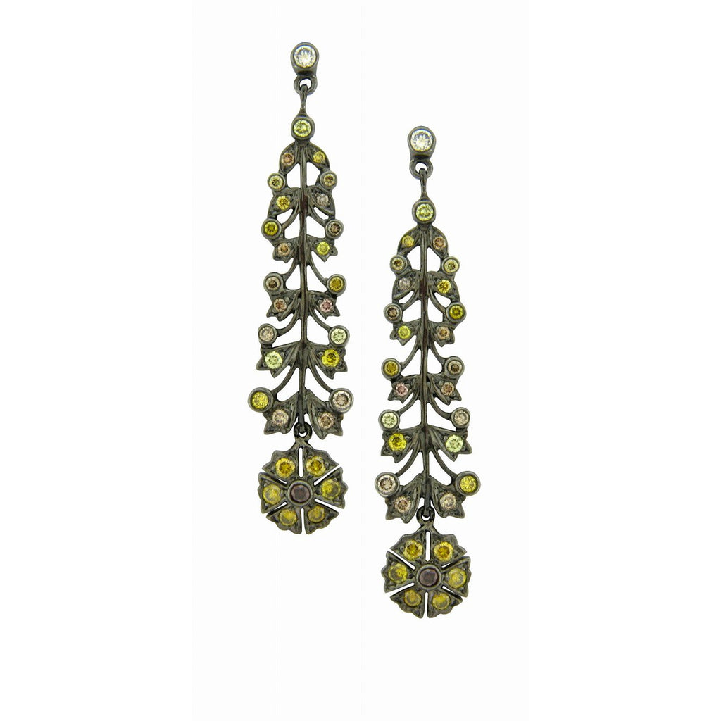 The Camelia Long Earrings