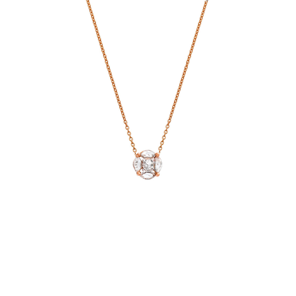 The Sophia Necklace - White and Rose
