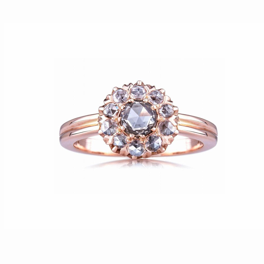 The Rose Cut Cluster Ring