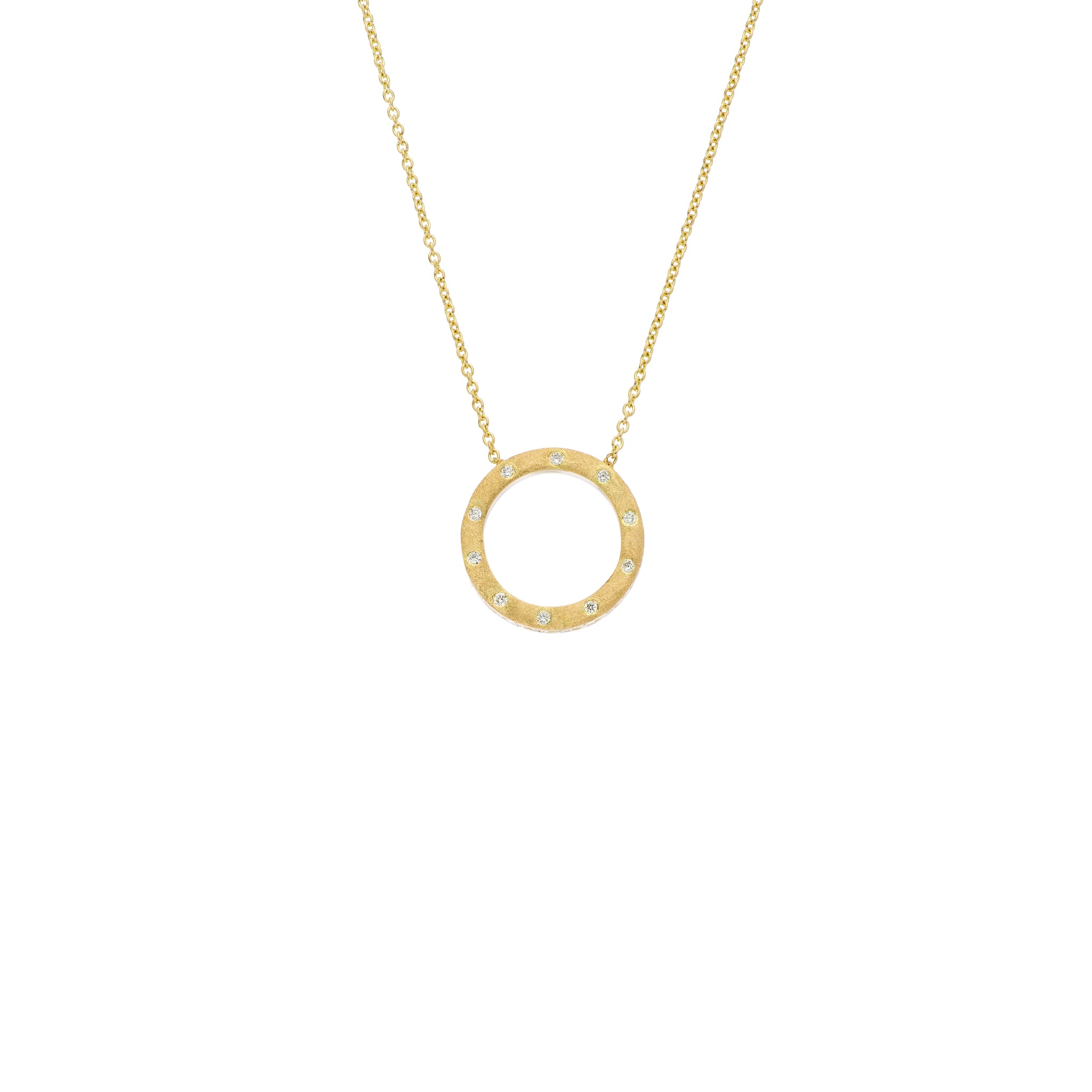 The Dunes Circle - White and Gold - Small