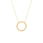 Dunes Large Circle Diamond Necklace
