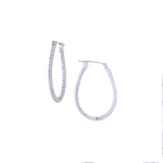 The Simple Elegance Oval Hoops - White