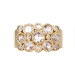 Josephine Rose Cut Diamond Yellow Gold Ring