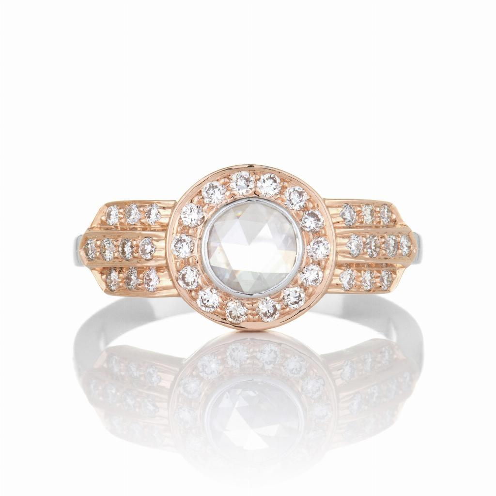 Mira Rose Cut Diamond Rose Gold Ring