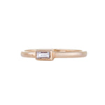 Petit Baguette Diamond Yellow Gold Ring
