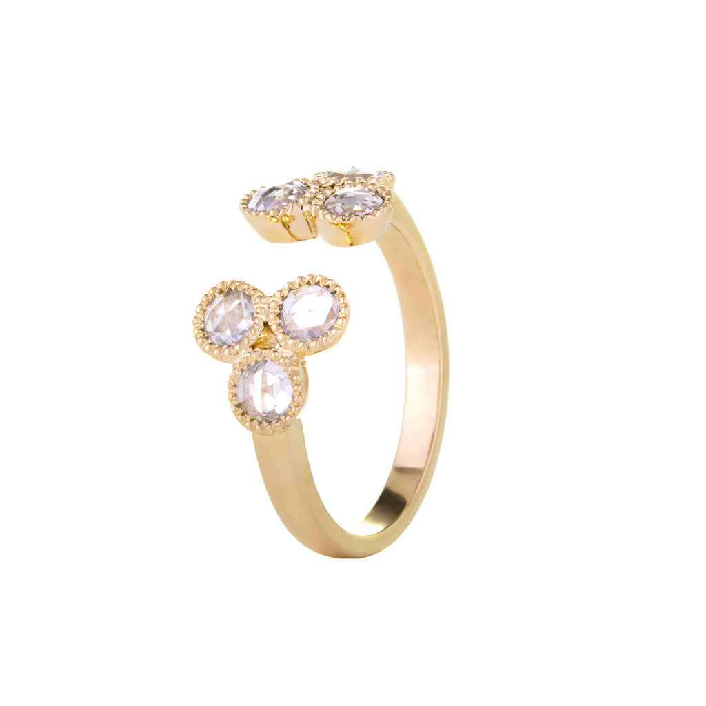 Grace Rose Cut Diamond Yellow Gold Ring